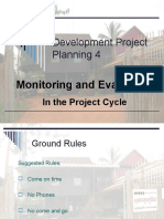6 Monitoring & Evaluation in Project Cycles