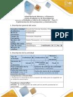 Guía  Paso 5- Implementación de la propuesta y sistematización