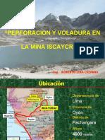 perforación y voladura en Iscaycruz