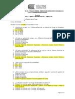 Examen Modulo I Marco Normativo del SINAGERD