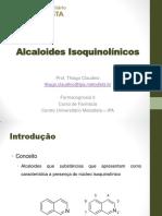 13 - Alcaloides Isoquinolínicos