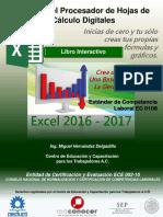 Manual de Capacitacion Manejo del Procesador de Hojas de calculo EC 0108-VER EXCEL 2017