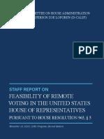 Remote Voting Report