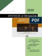 EFECTOS DE LA OBLIGACION