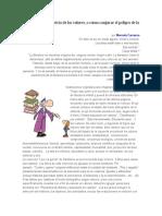 La literatura al servicio de los valores Marcela Carranza