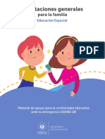ORIENTACIONES GENERALES PARA LA FAMILIA EDUCACIÓN ESPECIAL