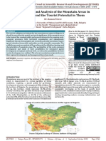 Assessment and Analysis of the Mountain Areas in Bulgaria and the Tourist Potential in Them