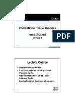 Unit 3 Slides - International Trade Theories