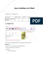 Text Annotation Guidelines for Hindi ASR