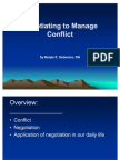 Negotiating to Manage Conflict