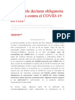 Es Posible Declarar Obligatoria La Vacuna Contra El COVID