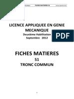 FICHES MATIERES GM S1 TRONC   COMMUN