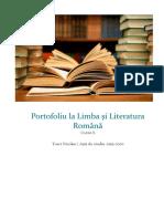 Portofoliu La Limba Și Literatura Română Cl 10