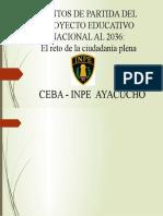 PUNTOS DE PARTIDA DEL PROYECTO EDUCATIVO NACIONAL AL