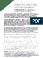 Response to Manuel Pinto Coelho Re Portuguese Drug Decriminalisation