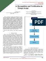 Online Signature Recognition and Verification in Telugu Script