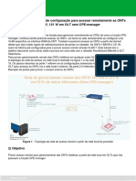 Procedimento para acessar remotamente as ONTs 142N W, 121 W em OLT sem CPE-manager