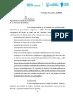 Posición Senaf - Noviembre 2020