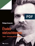 Philippe Granarolo-Etudes nietzscheennes - Tome I - Nietzsche penseur du futur.epub