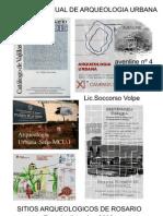 Excavaciones arqueologicas urbanas en Rosario . los sitios( 1988-1998)