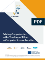 Existing Competencies in the Teaching of Ethics in Computer Science Faculties
