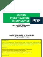 SESIÓN  6 y 7 INVESTIGACION DE OPÉRACIONES