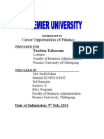 Career opportunities of finance