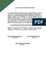 ACTA DE TOMA DE MUESTRAS