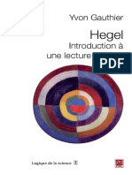 Yvon Gauthier - Hegel, une introduction critique