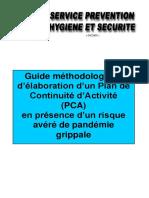 19 - Plan de continuité d'activité en présence de pandémie grippale