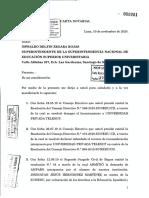 Carta Notarial de Telesup