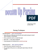 botttom up parsing