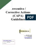 CAPA Guidelines