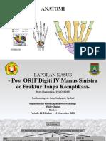 Lapsus Fraktur Manus Post ORIF