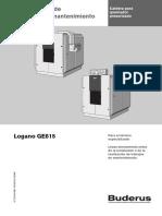 Manual Instalador GE615 Buderus