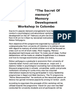 "Free Positive Thinking Seminar - Mr.Mohan Palliyaguru -""The Secret Of memory"" Memory Development Workshop in Colombo"