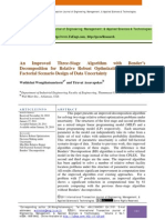 An Improved Three-Stage Algorithm with Bender's Decomposition for Relative Robust Optimization under Full Factorial Scenario Design of Data Uncertainty