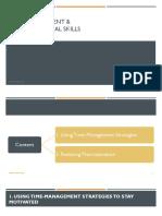 CHAPTER 4 - TIME MANAGEMENT &  ORGANIZATIONAL SKILLS (1)