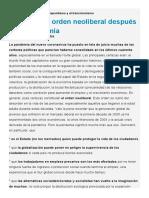 El futuro del capitalismo después de la pandemia. Boaventura de Sousa Santos