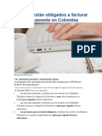 Quiénes están obligados a facturar electrónicamente en Colombia