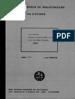 Analyse et depouillement de la revue policière espagnole Gimlet / Anne Godineau