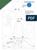 NAMC Mig-35 Depron Tiled