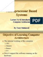1Microprocessor Systems  Lecture  No 02 Introduction to Computer Architecture