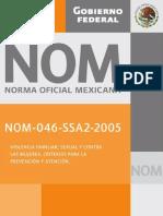 NOM-046. VIOLENCIA SEXUAL Y FAMILIAR A LAS MUJERES