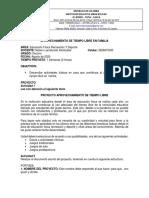Guía No. 4 EDUCACIÓN FÍSICA P. NELSON Proyecto Aprovechamiento Del Tiempo Libre