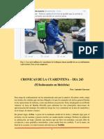 Cronicas de Cuarentena Dia 243 (El holocausto en bicicleta)
