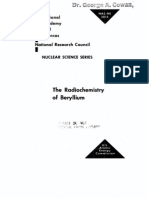 The Radio Chemistry of Beryllium.us AEC