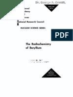 The Radio Chemistry of Beryllium.us AEC