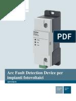 Arc Fault Detection Device per impianti fotovoltaici SENTRON. Manuale tecnico.pdf