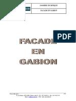 Façade en Gabion